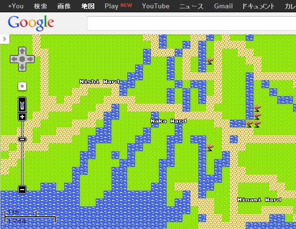 ドラクエ風googlemap